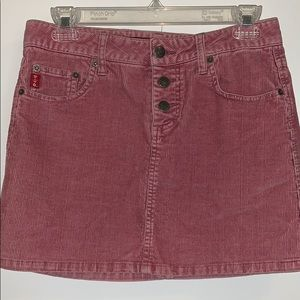 Corduroy Pink mini Skirt